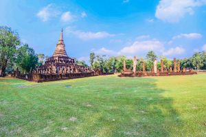 wat structure building ruin temple asian tourism sri elephant asia