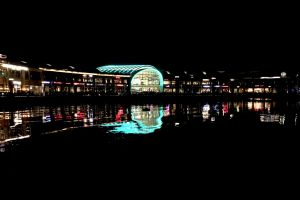 water festival city laser light reflections fountain lights beautiful