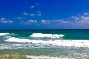 waves beach ocean