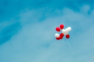 weather light blue sky clouds love sky scenic daylight balloons bright