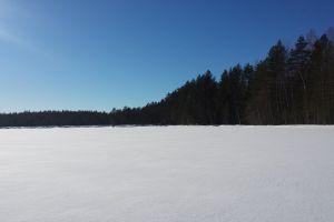 winter landscape winter wonderland snow winter frozen lake