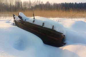 winter snow capped winter wonderland snow winter landscape boat