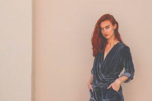 woman fashionable beautiful female wear lady girl fashion wall beauty