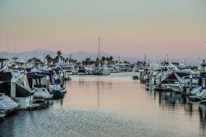 yachts water boats marina port docked sea harbor sky bay
