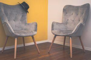 yellow indoors seat contemporary minimalist interior design hardwood floor velvety interior chairs