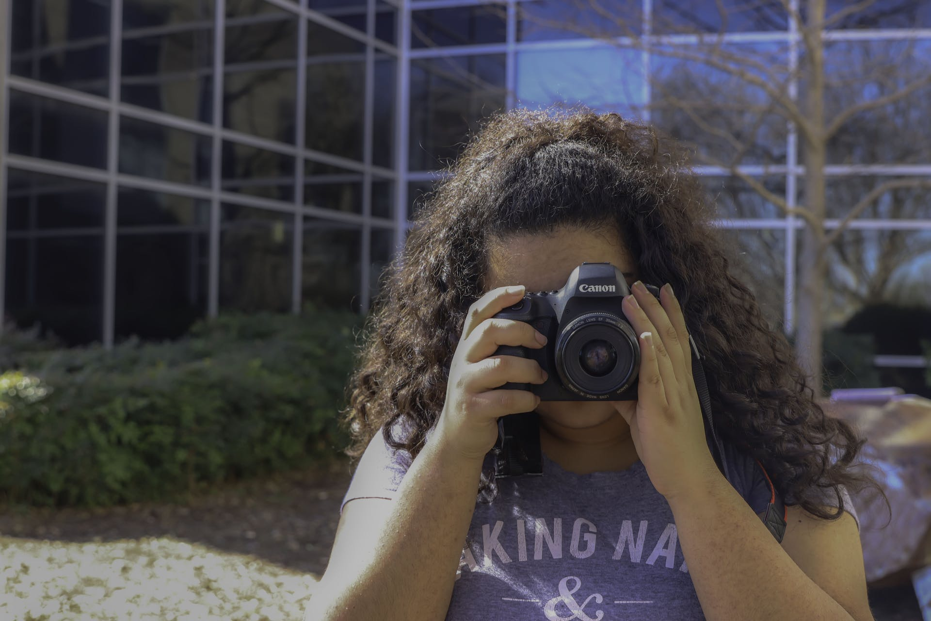 person camera dslr nature woman photography picture