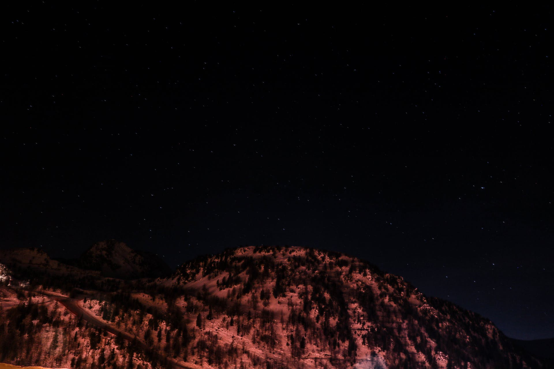 photography snow sky color long exposure mountain night blue stars purple