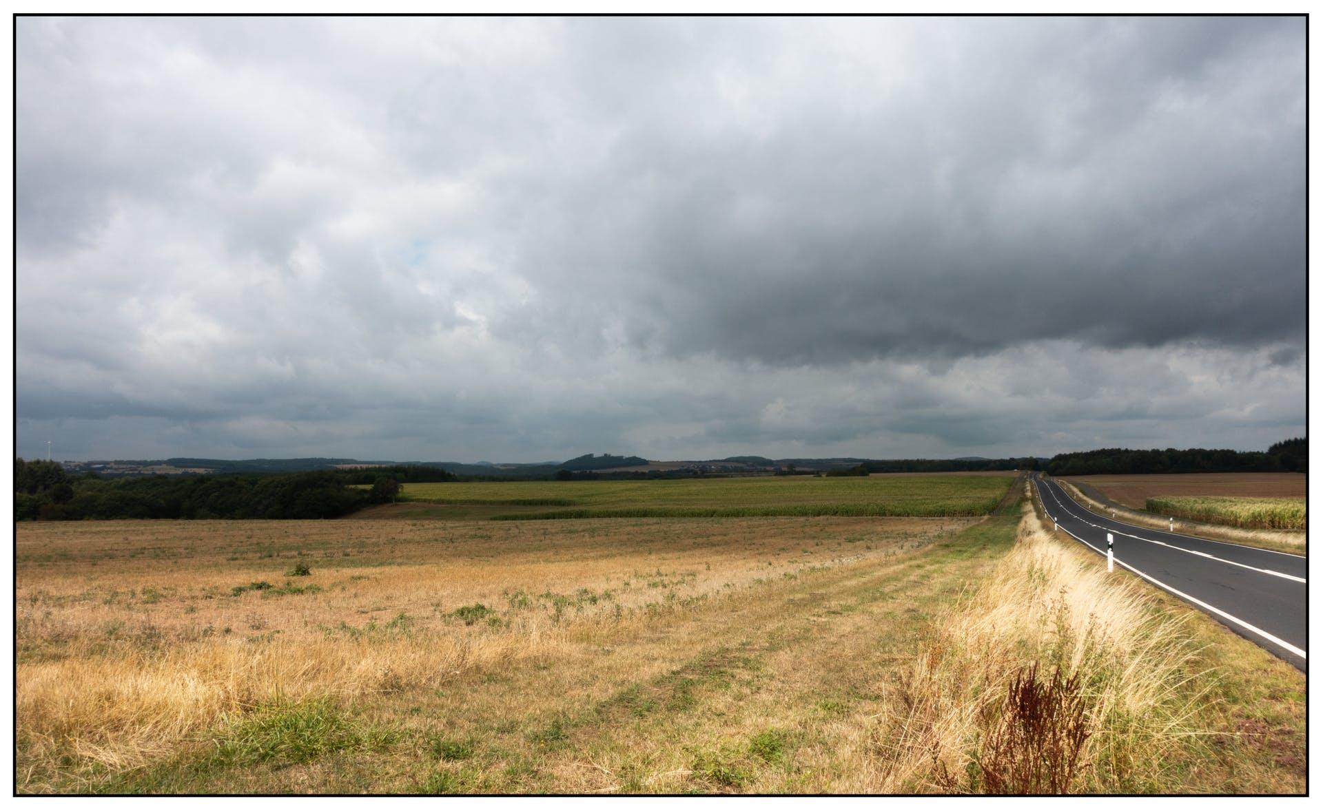 road travel fields kandscape landscape cloud road fields