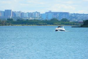 afternoom paranoa blue brazil nature motorboat water brasil brasilia late afternoom