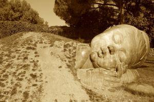baby heykel baby sleeping applied art street art animal park sculpture asleep monument sand