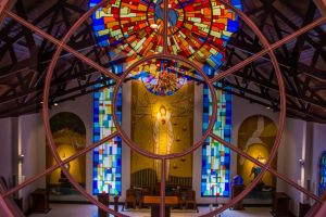 basilica art stained glass