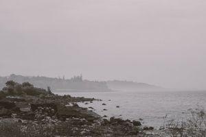 beach black and white coast scotland coastal by the sea rocks coastal land coast line