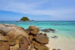 beautiful summer koh lipe lagoon beach boat thailand vacation clear paradise
