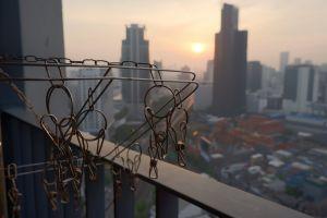 blurred background city focus bangkok