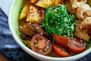 bowl tasty vegan healthy delicious dinner food meal vegetables