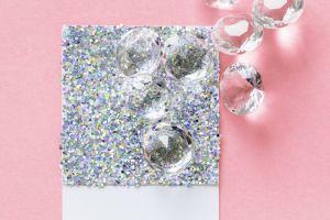 bright shine gems colors pink background crystal precious jewelry craft glisten