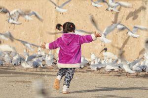 choupaty children sigle porbandar wetlands sea