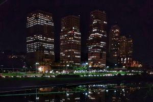 city night city hall architect urban urban area black dark sight brazil