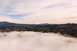 clouds mthood pacific northwest dji sunset dji mavic pro cloudy skies