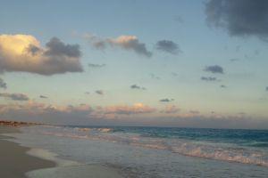 clouds sea beach sea
