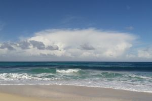 cloudy sky sea beach sea