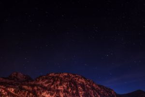 color star sky night photography mountain photographer purple long exposure snow