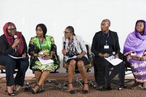 conference panel speakers seminar colleagues adults leadership people women workshop