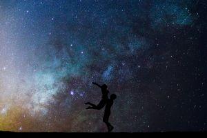 cosmos galaxy couple goal night sky girl and boy love couple