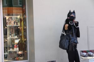 costume fashion street stock travel cat person black shopping tourism