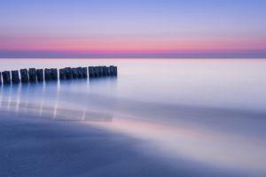 dawn water ocean seascape horizon sea