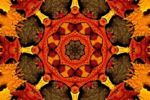 design brown orange pattern yellow kaleidoscope