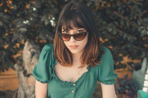 eyewear beauty portrait sunglasses beautiful pretty fashion woman person