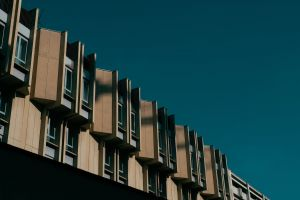 facade architectural design exterior structure urban modern low angle shot building architecture perspective