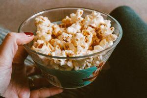 food bowl delicious snack tasty movie night popcorn