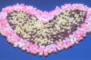 food candies chocolate heart edible love heart love marshmallows still life decorative