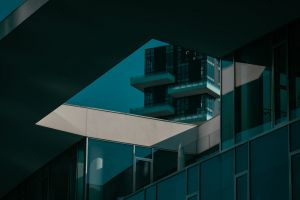 glass windows architectural design architecture apartment city perspective contemporary modern light building