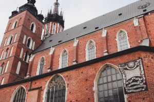 gothic architecture church sacral red bricks