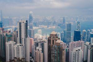 hong kong city victoria peak modern skyline asia