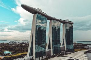 hotel towers building asia marina bay sands singaporean southeast asia singapore