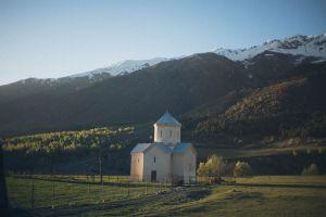 landscape building architecture snow mountain farm church
