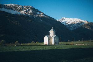 landscape grass scenic architecture church mountain