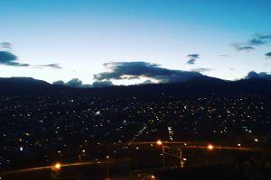 landscape night city sunset night