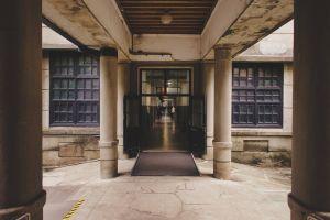 mood vintage architect corridor architectural door building