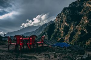 moody landscape himachal red beautiful life twilight nature mountains india