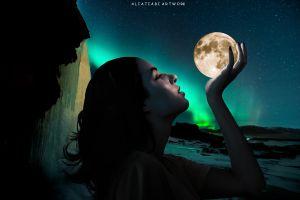 moon girl night full moon