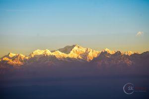 mountain sunrise hill everest golden