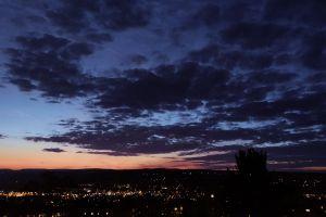 night sky sunset clouds