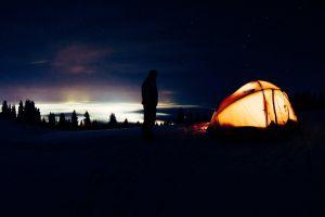 night tent shadow life night sky city view night lights