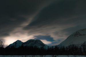 norway cloud freeze sunset mountain cloudly dark night
