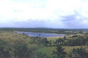 ocean beach forest uphill lagoon